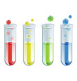 cartoon test tubes vector image vector image