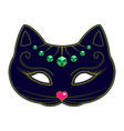 cat carnival mask vector image