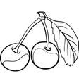 cherry for coloring book vector image vector image