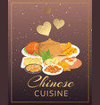 chinese cuisine street restaurant or homemade vector image vector image