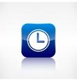 Clock web icon Application button vector image vector image