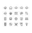 cloud computing sign thin line icon set vector image vector image