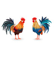 collection of detailed lovely roosters for your vector image
