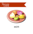 Colorful sweet moti on shiny ceramic plate
