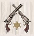 colt model 1848 dragoon two revolvers vector image vector image