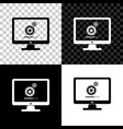 computer monitor update process with gear progress vector image vector image