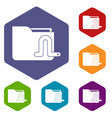 computer worm icons set vector image vector image