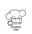 cooking time line icon concept cooking time vector image