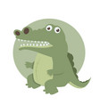 cute crocodile cartoon vector image vector image