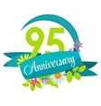 Cute Nature Flower Template 95 Years Anniversary vector image vector image