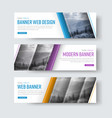 design of white banners with diagonal stripes for vector image