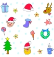 Doodle of christmas icons set vector image
