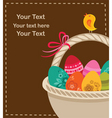 Easter eggs with basket vector image