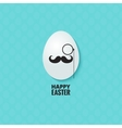 easter hipster egg background vector image vector image
