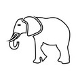 elephant black color icon vector image