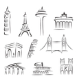 Famous buildings vector image