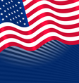 Flags USA Waving for Independence Day vector image