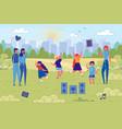 flat banner dance classes for children in nature vector image vector image
