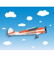 Flight of the plane in sky vector image vector image
