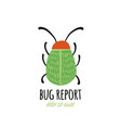 funny beetle bug character for your design vector image vector image
