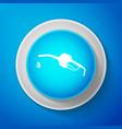 gasoline pump nozzle icon on blue background vector image vector image