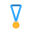 golden medal with ribbon isolated vector image