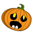 halloween pumpkin icon cartoon style vector image vector image