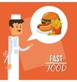 hamburger and fast food design vector image vector image