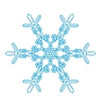 Hand-drawn doodles natural snowflake Zentangle vector image