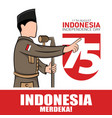 hand drawn indonesia independence day greeting