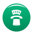 hat with card icon green vector image vector image