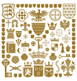 HERALDRY Symbols and decorations vector image