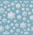 hristmas seamless pattern of paper snowflakes vector image