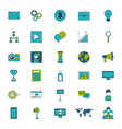 icon set digital marketing vector image