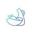 irregular shape tableware gradient linear icon vector image vector image