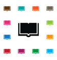 isolated learning icon dictionary element vector image