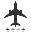 jet plane flat icon vector image vector image