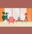 living room interior with furniture and vector image vector image