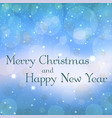 merry christmas blue decoration background vector image