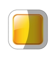 middle shadow sticker in yellow square vector image vector image