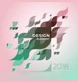 minimalistic creative concept diagonal abstract vector image vector image