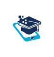 mobile learning logo design template vector image