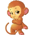 monkey sitting on a white background vector image vector image