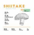 nutrition fact of shiitake mushroom vector image vector image