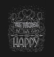 positive lettering card handdrawn vector image