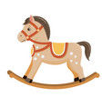 rocking horse baby toy vector image vector image