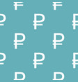 ruble symbol pattern seamless blue vector image vector image