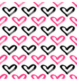 seamless hearts pattern brush painted hearts vector image vector image