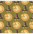 Seamless Thanksgiving day pattern with pumpkin pie vector image vector image