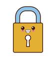 security padlock symbol cute kawaii cartoon vector image vector image
